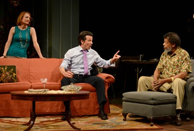 "From left to right: Dawn McGee, Drew Stone and Eugene Lee in ""Between Riverside and Crazy"" - PHOTO COURTESY OF PITTSBURGH PUBLIC THEATER"