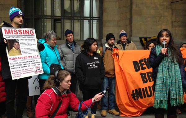 Advocates for Martin Esquivel-Hernandez calling for Pittsburgh to become a sanctuary city - CP PHOTO BY RYAN DETO