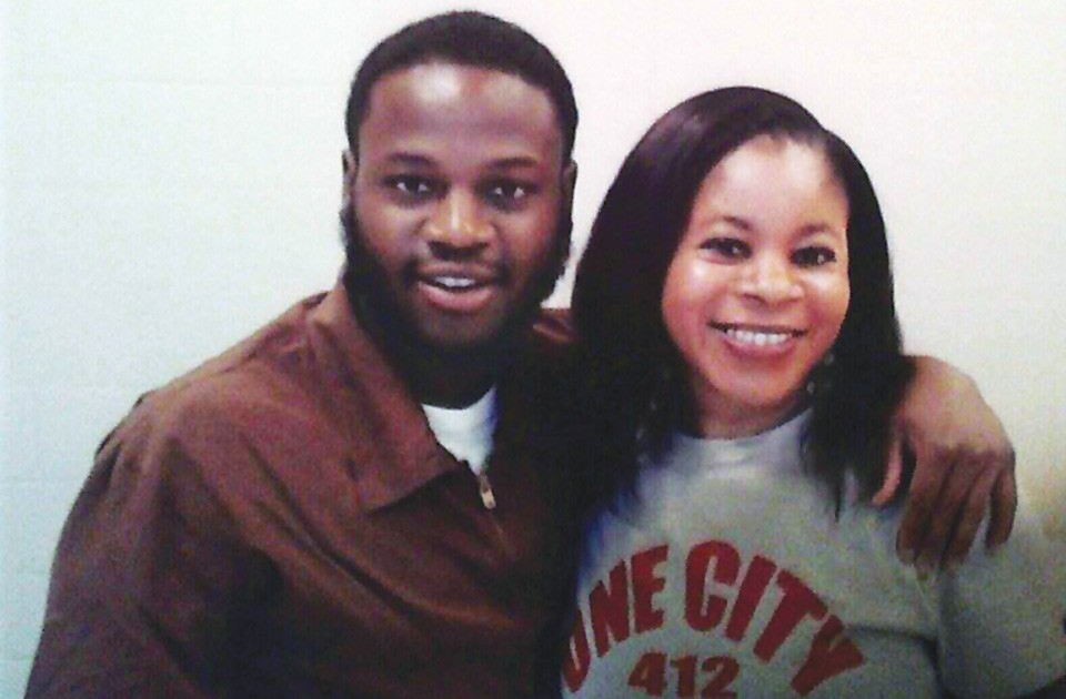 Joseph Hall and his mother, Cecilia Coleman, in a recent photo taken at SCI-Forest - PHOTO COURTESY OF CECILIA COLEMAN