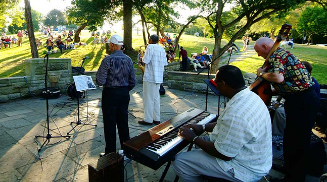 Jazz band in Riverview Park - PHOTO: COURTESY OF THE CITY OF PITTSBURGH