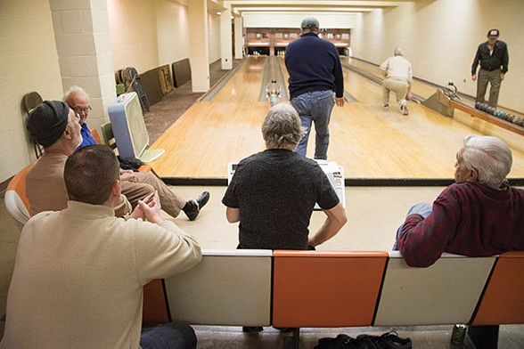 A group of players competing in duckpin bowling at Saint Maria Goretti Parish on Dec. 16 - CP PHOTO BY LUKE THOR TRAVIS