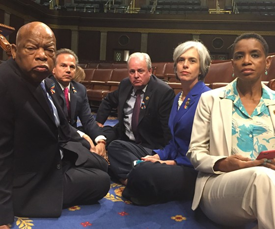 Representative Mike Doyle (center) with other House Democrats during June sit-in - PHOTO COURTESY OF MIKE DOYLE'S TWITTER ACCOUNT