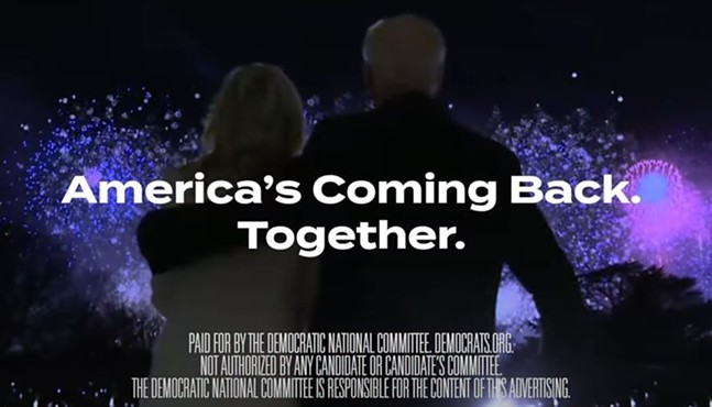 Screenshot of the end of the DNC ad - SCREENSHOT TAKEN FROM YOUTUBE