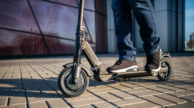 Electric scooter, aka e-scooter