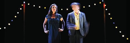 """Claire Marshall and Richard Lowdon in """"Tomorrow's Parties"""""""