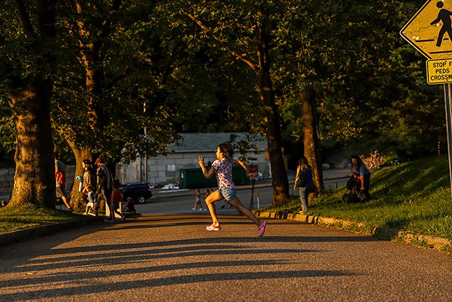 Kids play in Dormont Park before the Dormont Day fireworks. - CP PHOTO: KAYCEE ORWIG