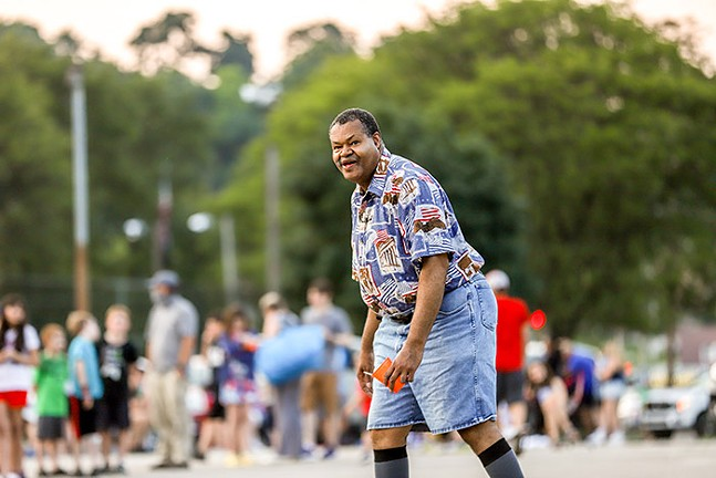 People dance to music in the Dormont Pool Parking lot during the Fourth of July Celebration. - CP PHOTO: KAYCEE ORWIG