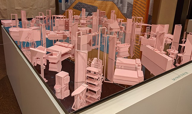 """""""The Grand Interior"""" by MAIO, part of Fabricated Landscape at CMOA - CP PHOTO: AMANDA WALTZ"""