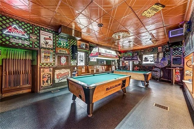 The pool tables inside Take a Break Bar - PHOTO: COURTESY OF COWDEN CREEK REALTY