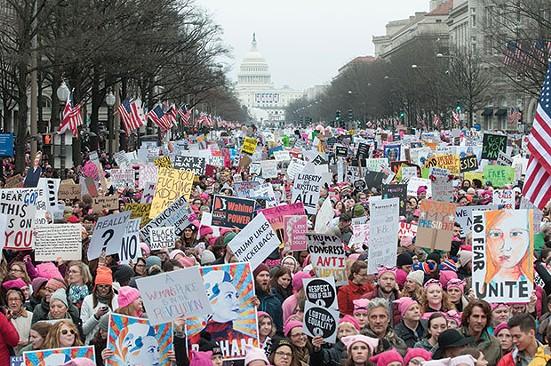 The people are speaking: marchers, along Pennsylvania Avenue, in Washington, D.C., on Jan. 21 - CP PHOTO BY JOEFF DAVIS