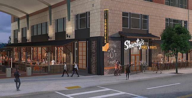 Shorty's Pins x Pints concept art - COURTESY OF SHELTON BUILDING ASSOCIATES