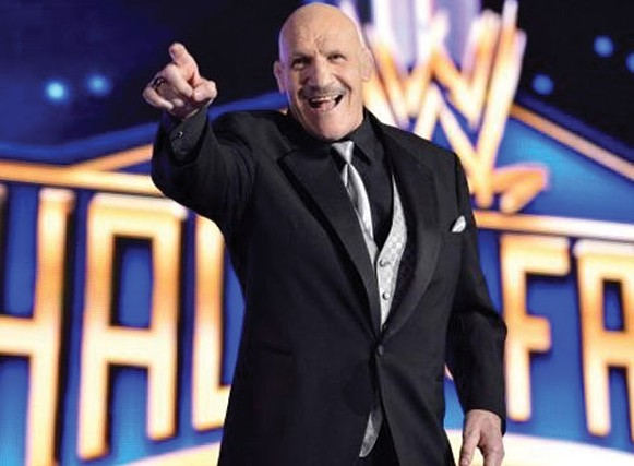 Bruno Sammartino at his Hall of Fame Induction - PHOTO COURTESY OF WWE.COM