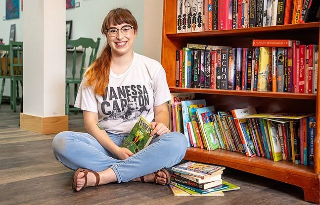 Livy Ciotoli and Livy's Library inside Black Cat Market - CP PHOTO: KAYCEE ORWIG