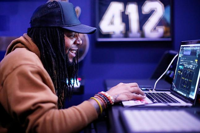 Benji. works on his music inside ID Labs on Sat., Jan. 23, 2021. - CP PHOTO: JARED WICKERHAM