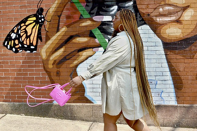 Mia Marshall flashes a pop of color. - CP PHOTO: TERENEH IDIA