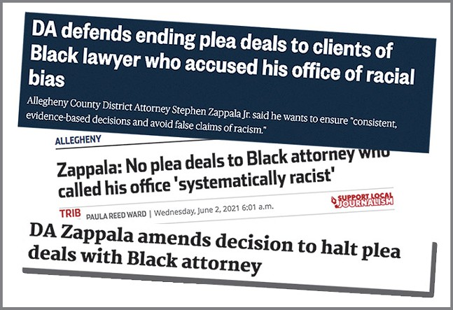 Online news headlines after Stephen Zappala halted, then rescinded, plea deals with well-known Black lawyer Milton Raiford