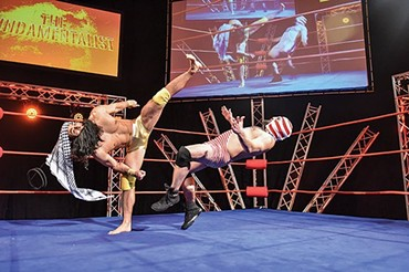 The Elaborate Entrance of Chad Deity - PHOTO COURTESY OF LOUIS STEIN