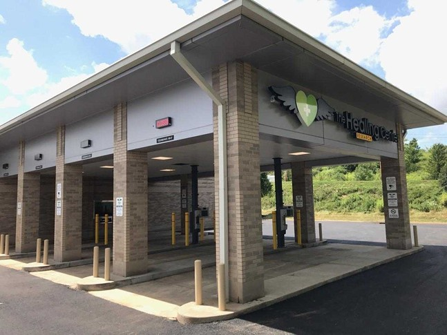 Drive through stations at The Healing Center's new medical marijuana dispensary in Robinson - PHOTO: COURTESY OF THE HEALING CENTER