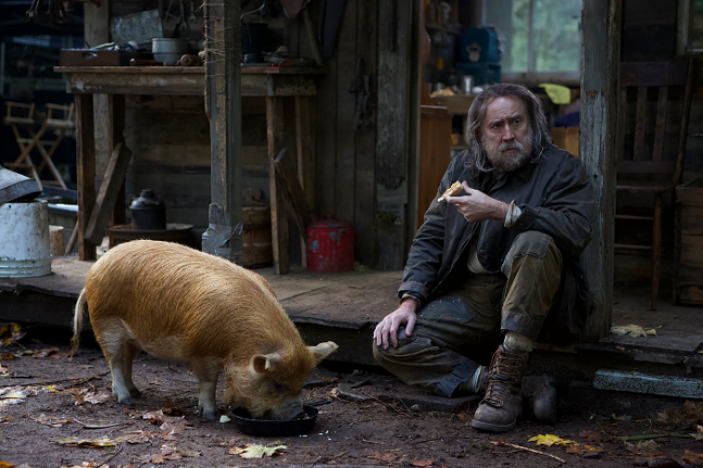 Nicolas Cage and a pig in Pig - IMAGE COURTESY OF NEON