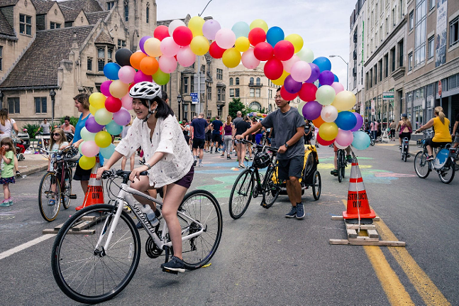 Open Streets festival in East Liberty - PHOTO: COURTESY OF BIKE PITTSBURGH