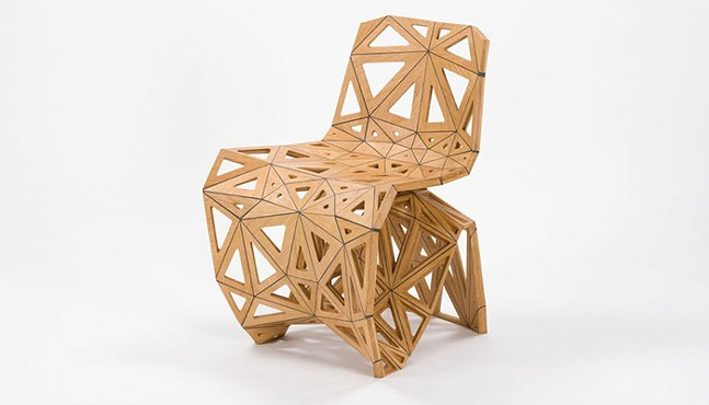 Polygon Makerchair by Joris Laarman, part of Extraordinary Ordinary Things at CMOA - PHOTO: COURTESY OF CMOA