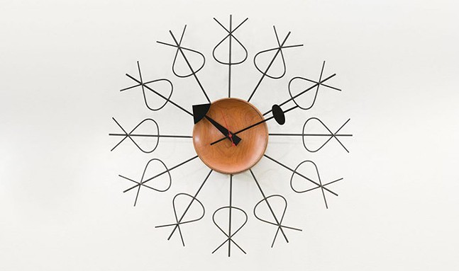 Pretzel wall clock designed by George Nelson for the Howard Miller Clock Company,  part of Extraordinary Ordinary Things at CMOA - PHOTO: COURTESY OF CMOA