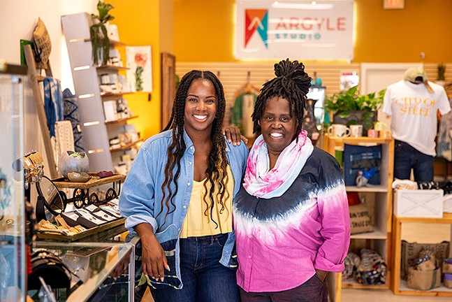 Brigette and Christine Bethea, owners of Argyle Studio in Oakland - CP PHOTO: KAYCEE ORWIG