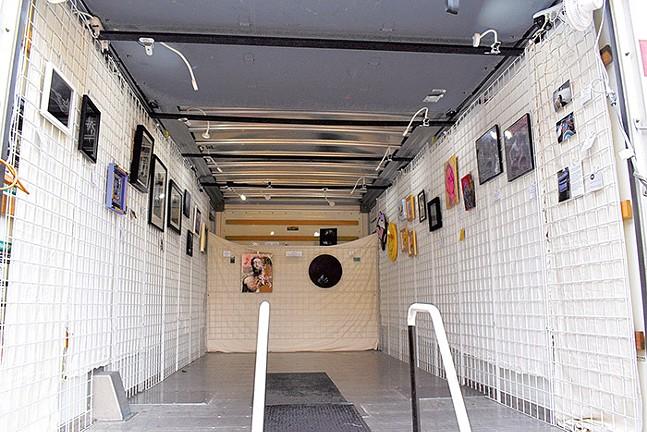 Art displayed inside Roadkill Gallery's mobile gallery - PHOTO: COURTESY OF ROADKILL GALLERY