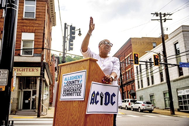Terri Minor Spencer at the launch of the Allegheny County Independent Democratic Committee - CP PHOTO: KAYCEE ORWIG