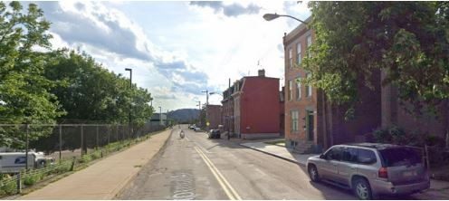 Existing conditions on California Avenue near Brighton Road - IMAGE: COURTESY CITY OF PITTSBURGH