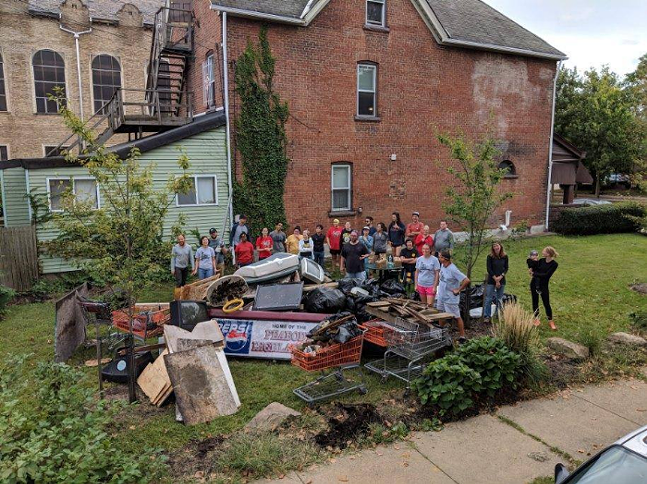 The East Liberty team's haul from a recent Garbage Olympics - PHOTO: COURTESY GARBAGE OLYMPICS