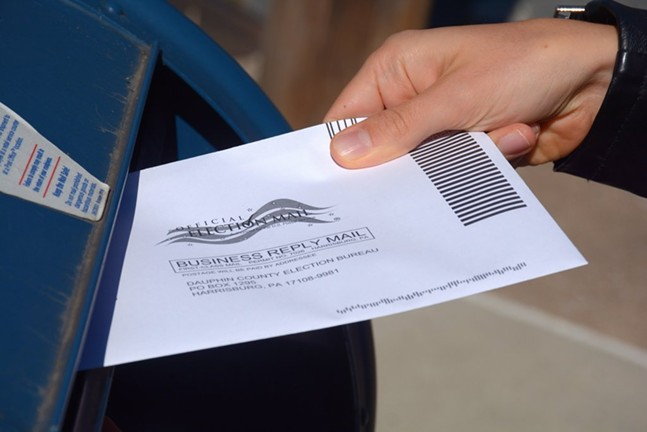 A Pennsylvania mail-in ballot - (CAPITAL-STAR PHOTO BY STEPHEN CARUSO)