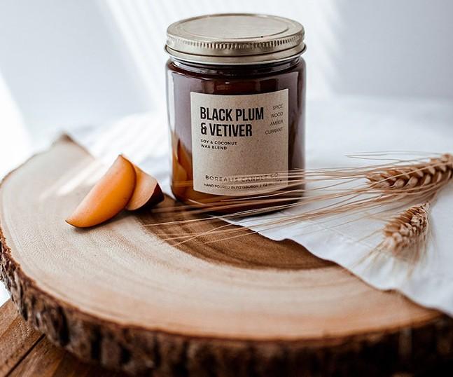 Borealis' Black Plum & Vetiver candle - PHOTO: BOREALIS CANDLE CO.