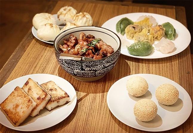 A variety of dim sum at 芋见BAO - CP PHOTO: KIMBERLY ROONEY