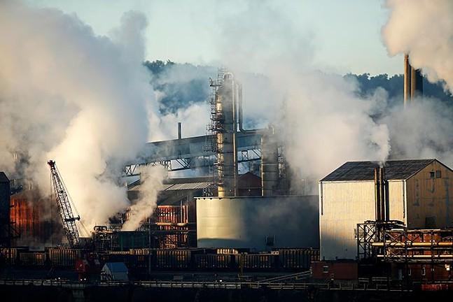 The Clairton Coke Works facility in Clairton, Pa. - CP PHOTO: JARED WICKERHAM