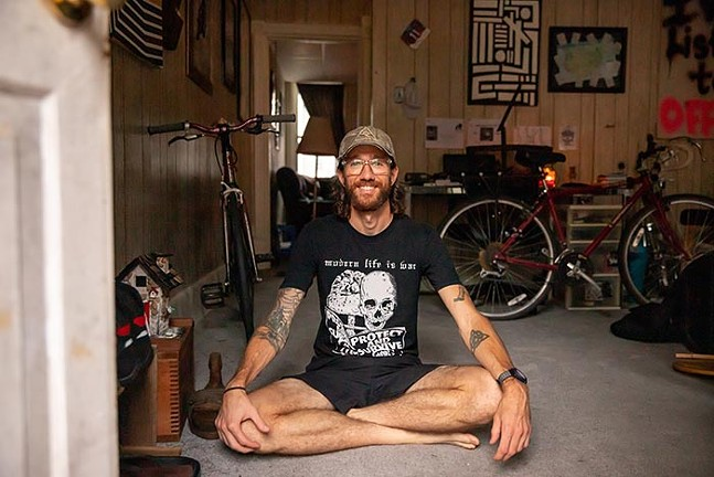 Greg Brunner poses for a portrait in his home in Millvale. - CP PHOTO: KAYCEE ORWIG
