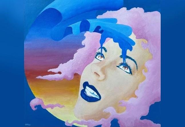 Drink The Blue Sky by Nice Rec - ARTWORK BY ALBERTO ALMARZO