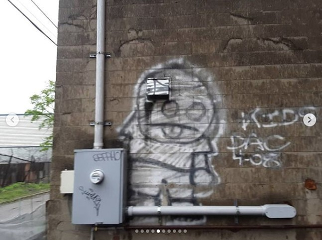 Kids graffiti spotted by Marcher Arrant during his time in Pittsburgh - INSTAGRAM PHOTO: MARCHER ARRANT
