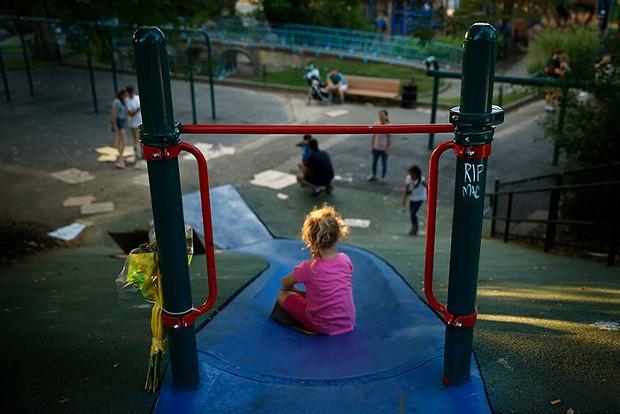 Blue Slide Playground - CP PHOTO: JARED WICKERHAM