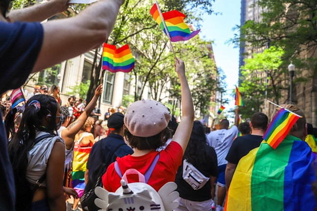 Pride march in Downtown Pittsburgh - CP PHOTO: KAYCEE ORWIG