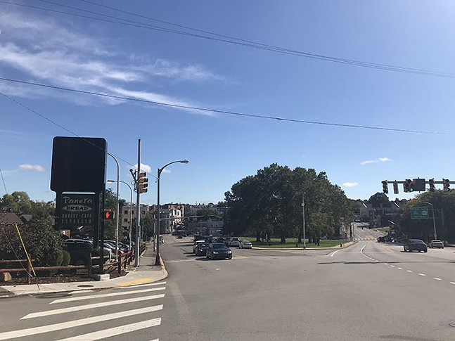 Intersection of Boulevard of the Allies and Coltart Avenue in Oakland - CP PHOTO: RYAN DETO