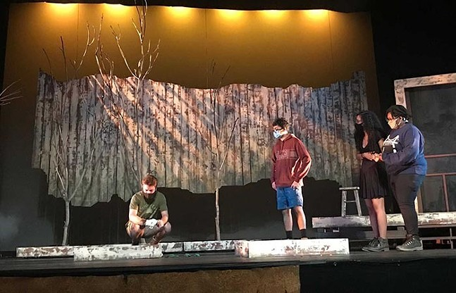 Rehearsals for Somewhere, presented by the Pitt Department of Theatre Arts - PHOTO COURTESY OF RICARDO VILA-ROGER