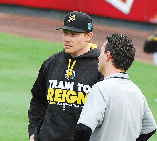 Former Pirates closer Mark Melancon - CP PHOTO BY CHARLIE DEITCH