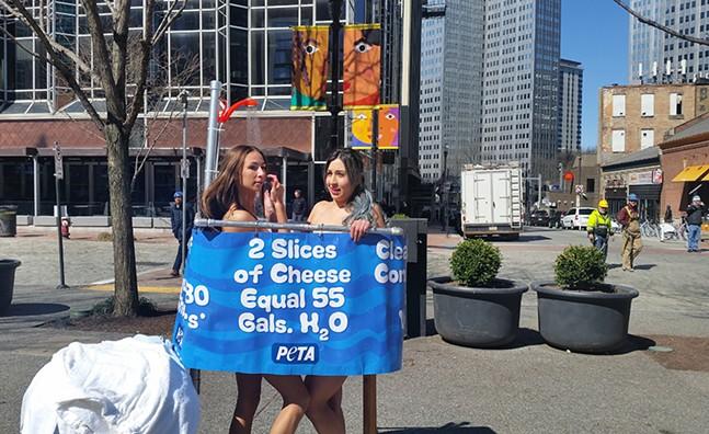 PETA demonstration in Market Square - CP PHOTO BY REBECCA ADDISON