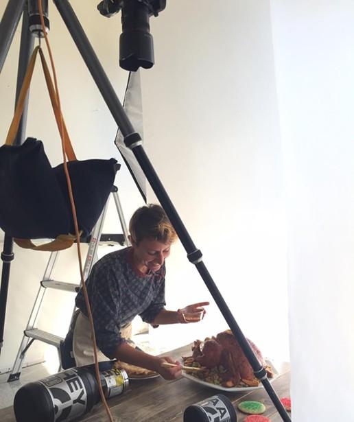 Quelcy at work - CP PHOTO COURTESY OF ADAM MILLIRON.