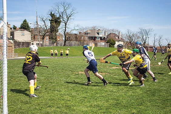 Action from an April 9 Pittsburgh Pucas practice - CP PHOTO BY BILLY LUDT