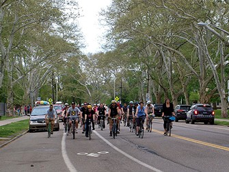 Cyclists on a Steel City Roll in the North Side - PHOTO COURTESY OF CHRIS EYERS