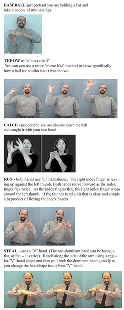 Basic signs in American Sign Language - IMAGE COURTESY OF WESTERN PENNSYLVANIA SCHOOL FOR THE DEAF