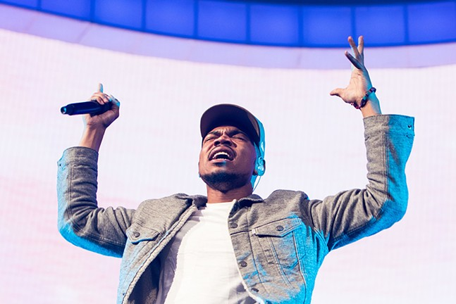 Chance the Rapper performs at PPG Paints Arena on Sat., May 20. - CP PHOTOS BY LUKE THOR TRAVIS