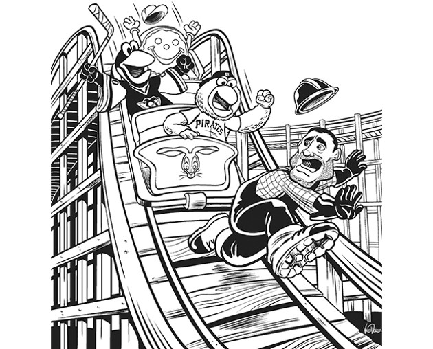 cp illustration by vince dorse - Pittsburgh Pirates Coloring Pages